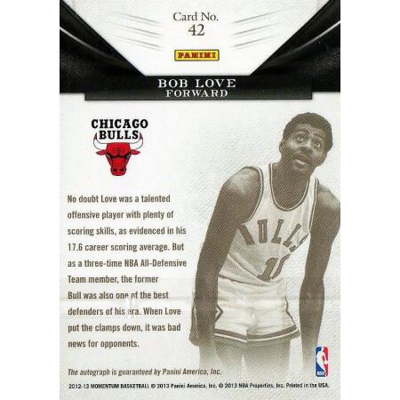 BOB LOVE - BULLS - KARTA NBA - KARTA Z AUTOGRAFEM