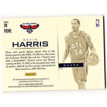 DEVIN HARRIS - HAWKS - KARTA NBA - KARTA Z AUTOGRAFEM