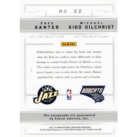 ENES KANTER / MICHAEL KIDD-GILCHRIST - JAZZ / BOBCATS - KARTA NBA - KARTA Z AUTOGRAFEM