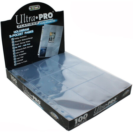 "1 SZT. STRONA DO SEGREGATORA / 9 POCKET ULTRA PRO ""PLATINUM"" HOLOGRAM PAGES"