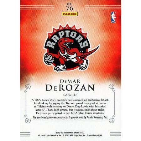 DEMAR DEROZAN - RAPTORS - KARTA NBA