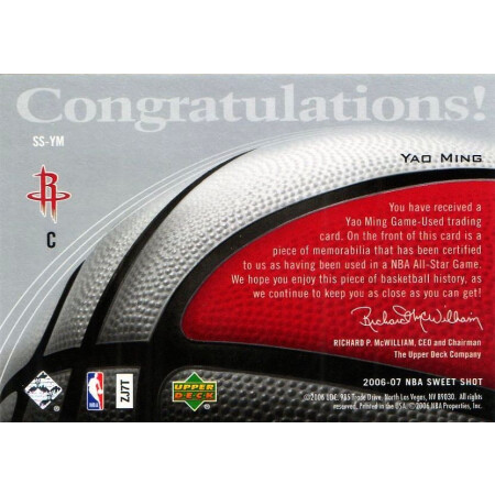 YAO MING - ROCKETS - KARTA NBA