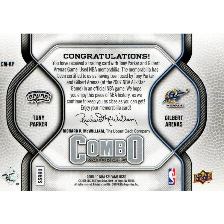 TONY PARKER / GILBERT ARENAS - SPURS / WIZARDS - KARTA NBA