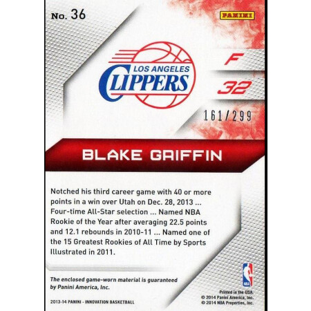 BLAKE GRIFFIN - LA CLIPPERS - KARTA NBA