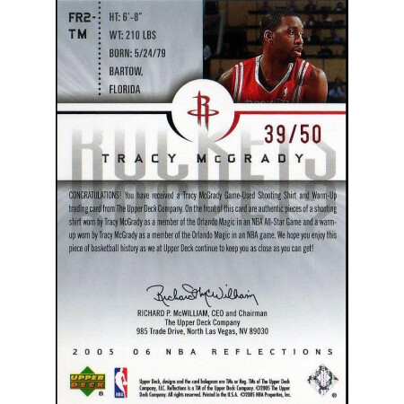 TRACY MCGRADY - ROCKETS - KARTA NBA