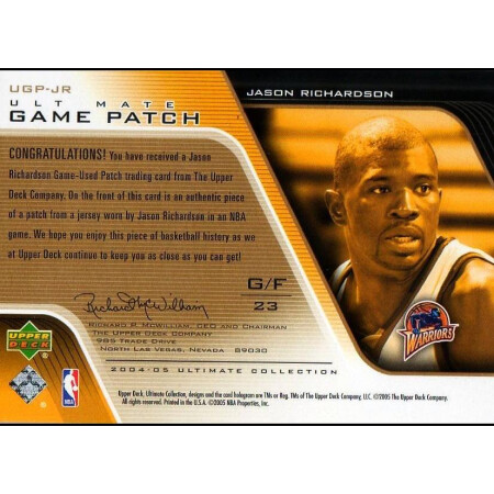 JASON RICHARDSON - WARRIORS - KARTA NBA - PATCH
