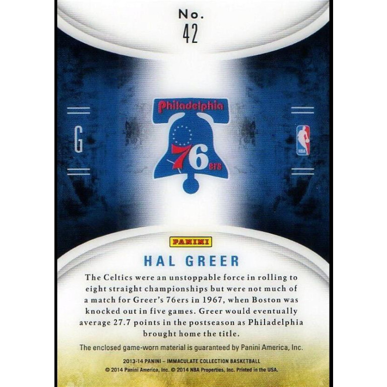HAL GREER - 76ERS - KARTA NBA