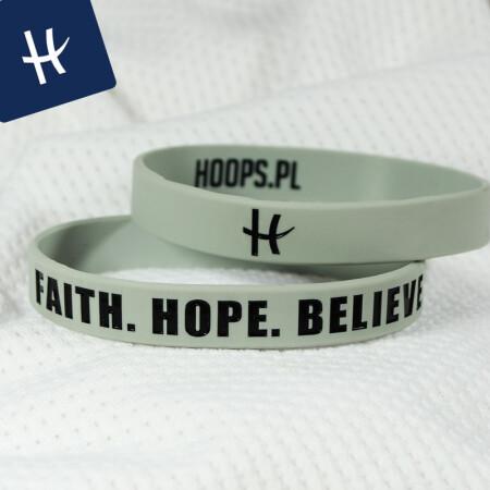 FAITH. HOPE. BELIEVE. - OPASKA NA RĘKĘ RUBBERBAND