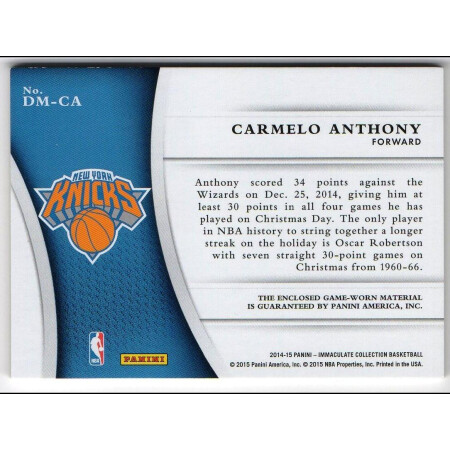 CARMELO ANTHONY - KARTA NBA - KNICKS