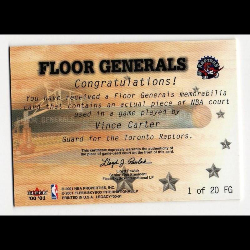 VINCE CARTER - KARTA NBA Z KAWAŁKIEM PARKIETU