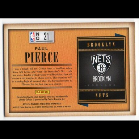 PAUL PIERCE - NETS - KARTA NBA